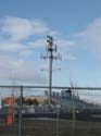 Antennas mounted on field lights at Reed High School